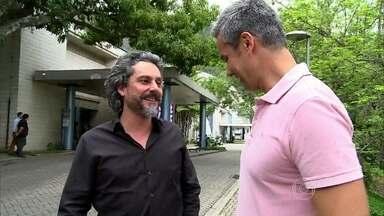 Alexandre Nero encontra com Otaviano Costa nos bastidores de Império - Ator brinca coma chegada de Amanda à novela Império