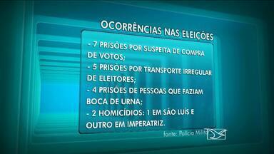 Polícia Militar divulga balanço das ocorrências durante as eleições - O balanço da Polícia Militar sobre as ocorrências que tiveram em todo o estado do Maranhão foi divulgado nessa segunda-feira (6).
