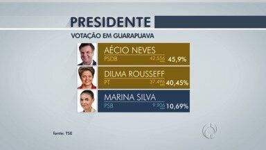 Veja como ficaram as votações para presidente, governador e senador em Guarapuava - Aécio Neves do PSDB foi o candidato mais votado na cidade.