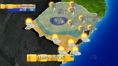 Tempo: chuvas dão trégua na Fronteira Oeste do RS - As previsões de chuva ficam para região norte.