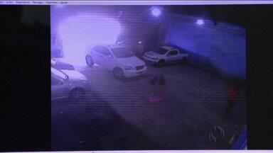 Gerente de estacionamento é morto durante tentativa de assalto em Foz do Iguaçu - Câmeras de segurança registraram a ação dos bandidos.