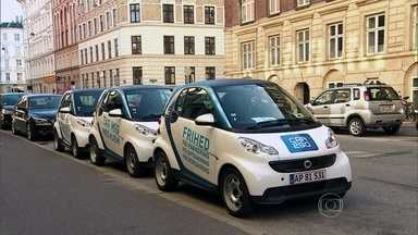 Copenhague dá exemplo de transporte urbano - Compartilhamento de carros e táxis elétricos para baratear e facilitar o deslocamento dos moradores da capital da Dinamarca.