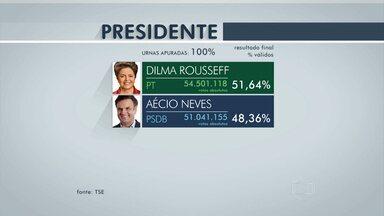Depois de disputa acirrada, Dilma Rousseff (PT) é reeleita presidente - O país teve a eleição presidencial mais apertada desde 1989.