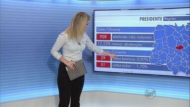 Sales de Oliveira tem maior percentual de votos na região de Ribeirão - Cidade utilizou sistema biométrico durante as eleições.