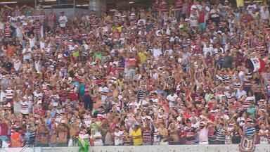 Expectativa é grande para jogo do Santa contra América-RN que vale vaga no G-4 da Série B - Arena Pernambuco deve receber, neste sábado, um grande público para o jogo