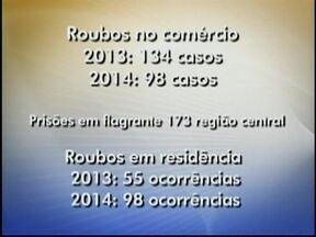 Roubos no comércio diminuem em Chapecó; Dobra número de furtos em residências - Roubos no comércio diminuem em Chapecó; Dobra número de furtos em residências