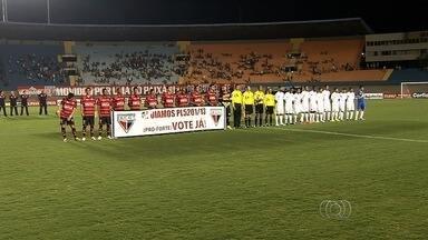 Atlético-GO e Vila Nova se enfrentam pela segunda vez na Série B 2014 - Clubes duelam em situações opostas; no primeiro turno, deu Dragão