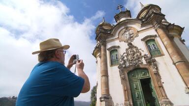 Turistas se fascinam com histórias sobre Aleijadinho - Saiba o que é exagero e o que é verdade. Em programa especial, Terra de Minas homenageia o mestro do barroco, que morreu há 200 anos.