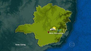 Frente fria sobre Minas Gerais aumenta nebulosidade no estado - A previsão é de chuva em quase todas as regiões. Em Belo Horizonte, a máxima pode chegar aos 27ºC.