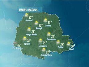 O fim de semana terá tempo instável em Londrina - Segundo a previsão pode chover neste domingo em todo o Estado, mas o calor permanece.
