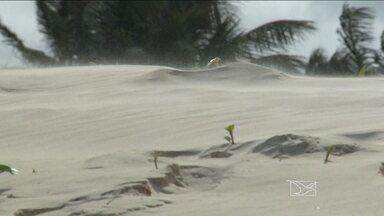 Movimento das dunas no litoral do Maranhão é por causa dos fortes ventos - Movimento das dunas no litoral do Maranhão é por causa dos fortes ventos