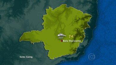 Meteorologia prevê chuva em quase todas as regiões de Minas Gerais - Em Belo Horizonte, os termômetros chegam aos 24°C.