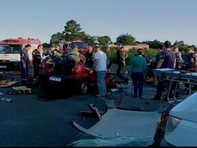 Três pessoas da mesma família morrem em acidente na RS-287 - Elas vão ser enterradas essa tarde em Vale do Sol, RS.