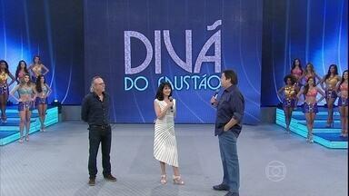 Zezé Polessa e Tato Gabus Mendes estão no Divã do Faustão - Dupla, que está no ar em Império, dá conselhos ao público