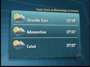 Previsão é de quarta-feira instável no Oeste Paulista - Confira as temperaturas para algumas cidades.