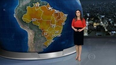Quinta-feira (27) será de chuva nas regiões Sul, Sudeste e Norte do Brasil - A umidade nas regiões deixa o tempo instável até pelo menos sexta-feira (28). Há previsão de temporais para São Paulo, Minas Gerais e Rio de Janeiro.