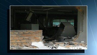 Homem é preso suspeito de participar de explosões de caixas eletrônicos em Goiás - Uma das ações foi em Quirinópolis. Terminal de atendimento ficou completamente destruído.