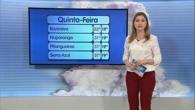 Região de Ribeirão Preto pode ter chuva nesta quinta-feira (4) - Frente fria que se aproxima do Sudeste pode causar instabilidade e previsão é de chuva para o fim de semana.