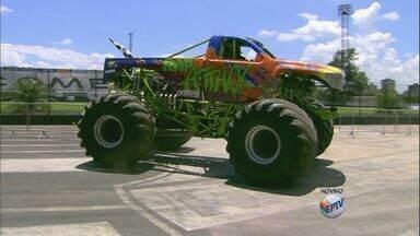 Ribeirão Preto recebe Monster Truck no Palma Travassos - Evento automobilístico reúne caminhonetes gigantes em várias competições.