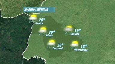 Frente fria se afasta do Paraná - Amanhã ainda podem ocorrer pancadas de chuva isoladas.