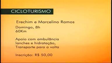Passeio de Cicloturismo ocorre de Erechim a Marcelino Ramos, RS - O passeio ocorre no domingo (7), às 7h.