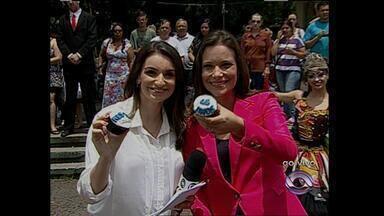 Jornal Especial da RBS TV Santa Maria, RS - Ao vivo da praça Saldanha Marinho.
