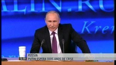 Instabilidade da Rússia pode gerar problemas para países como o Brasil - União Europeia aprovou punições à Rússia e proibiu investir na Crimeia.