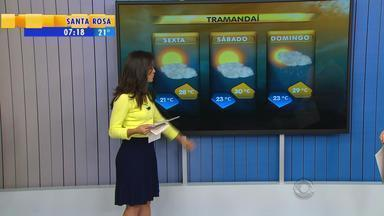 Tempo: confira previsão para algumas cidades no fim de semana - No domingo (19) deve chover em todo estado.