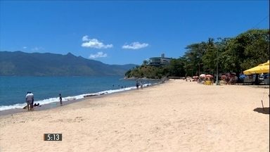 Praias apresentam boas condições para banhistas no litoral norte de SP - Hora 1 faz uma blitz pelas principais praias de todo o país.