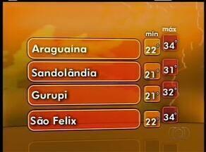 Confira a previsão do tempo para esta segunda-feira (22) no Tocantins - Confira a previsão do tempo para esta segunda-feira (22) no Tocantins