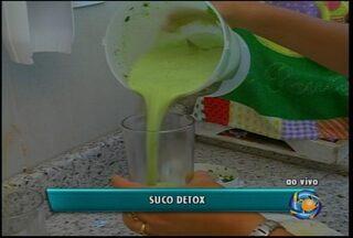 Aprenda como fazer um suco detox - Ele elimina algumas toxinas que foram adquiridas pelo organismo