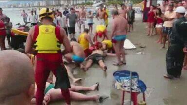 Quatro turistas morreram após serem atingidos por um raio - Incidente aconteceu na última segunda-feira na Praia Grande