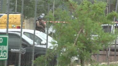 O secretário de Segurança Pública está em Maringá para acompanhar negociações com presos - A rebelião na Casa de Custódia já dura mais de 30 horas