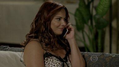 Naná recebe um telefonema de Antônio - Xana se irrita com ciúmes