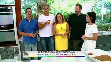 Cissa Guimarães comemora volta ao Vídeo Show: 'Sensação de mãe pródiga' - Otaviano Costa fala com ela e André Marques nos bastidores do Mais Você