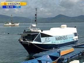 Transporte marítimo entre Joinville e São Francisco do Sul é suspenso temporariamente - Transporte marítimo entre Joinville e São Francisco do Sul é suspenso temporariamente