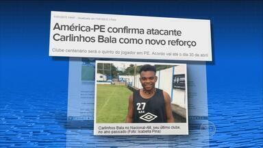 Carlinhos Bala é o novo reforço do América - Novo goleiro do Santa Cruz já está treinando.