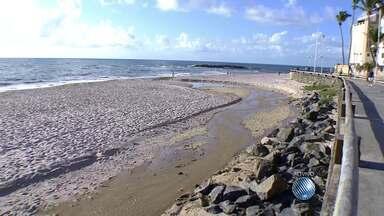 Esgoto é lançado na praia de Amaralina, em Salvador - Veja no flagrante do JM.