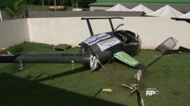 Há um mês, outro helicóptero caiu em Terra Boa - Não houve mortos. Piloto e outras três pessoas foram responsabilizados na justiça.