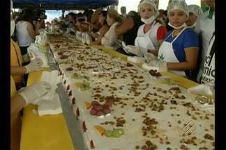 Aniversário de 399 anos de Belém tem programação especial na cidade - Festejos tiveram direito à missa e ao tradicional bolo no Mercado do Ver-o-Peso.