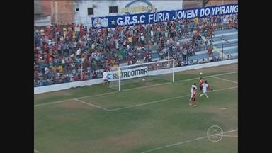 Ypiranga joga bem e vence o Atlético-PE por 2 a 0 - Léo Itatuba e Kila fizeram os gols da Máquina de Costura; No outro jogo da rodada, o Serra Talhada bateu o Pesqueira, por 1 a 0