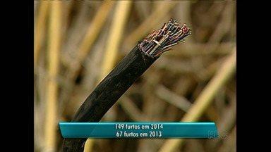 Em 2014 o número de furtos de cabos telefônicos aumentou em Londrina - De acordo com o levantamento divulgado pela Sercomtel, o número de furtos mais que dobrou em relação à 2013. O número de orelhões vandalizados também subiu.