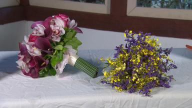 Reprise: Buquês e arranjos dão charme mineiro a noivas - Eles são preaparados com as flores da estação.