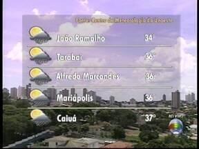 Previsão é que calor aumente no Oeste Paulista - Em Pres. Prudente, máxima é de 35º C; confira a previsão.