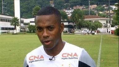 Robinho confirma sondagem do Flamengo, mas diz que quer ficar no Santos - Atacante ja trabalhou com Luxemburgo, mas quer permanecer na Vila Belmiro