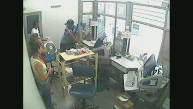 Suspeito de assaltar lotérica é preso em Pedregulho, SP - Câmeras de segurança do estabelecimento registraram a ação.