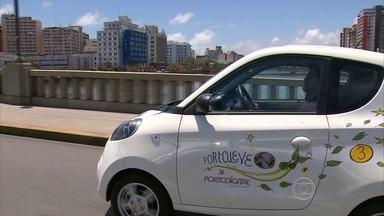 Serviço de carros elétricos está conquistando motoristas na capital pernambucana - Compartilhamento de veículos está disponível no Bairro do Recife