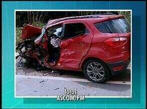 Uma pessoa morre e três ficam feridas em acidente na BR-230 - Uma pessoa morre e três ficam feridas em acidente na BR-230