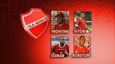 Quarteto que conquistou o acesso na Série C está de volta ao Vila Nova - Frontini, Robston, Osmar e Vítor fazem parte do elenco de 2015