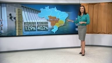 País enfrenta forte seca em pleno período de chuvas - O problema só aumenta porque o consumo de energia também sobe. No Sudeste e Centro-Oeste, os reservatórios começaram o ano com 17,9% da capacidade, em janeiro do ano passado estava em 40,2%.